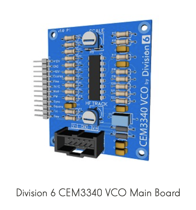 Division 6 CEM3340 - VCO Main Board